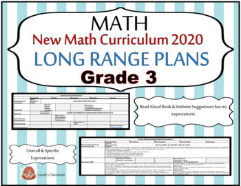 LONG RANGE PLANS – Math – Grade 3