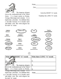 LONG & SHORT A (Science theme - alligators)  ANSWER KEY