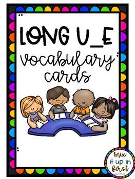 LONG U VOCABULARY CARDS