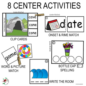LONG VOWEL A WITH FINAL SILENT E REINFORCEMENT CENTER ACTIVITIES