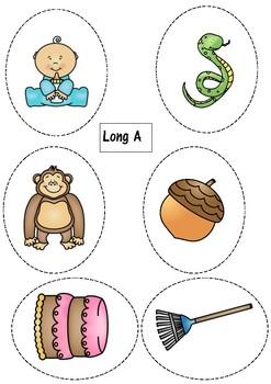 LONG VOWEL BAG- activities to help children understand long vowels