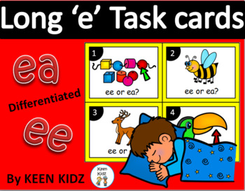 LONG VOWEL E TASK CARDS (ee and ea)