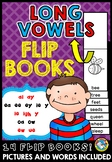 LONG VOWEL SOUNDS FIRST GRADE (LONG VOWELS ACTIVITIES) PHONICS FLIP BOOKS