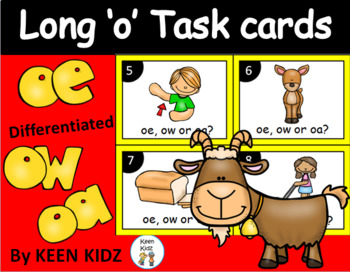 LONG VOWEL O TASK CARDS (oe, oa and ow)