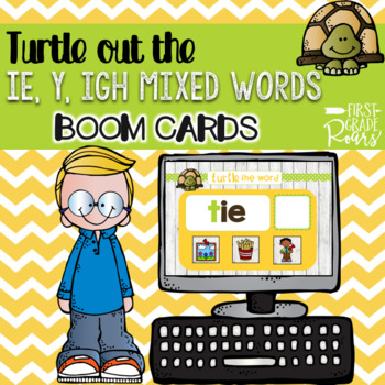 LONG VOWEL TURTLE OUT THE WORD DIGITAL Task BOOM CARDS