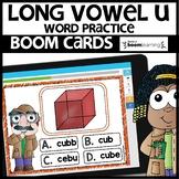 LONG VOWEL U   BOOM CARDS   Digital Task Cards