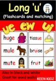 LONG VOWEL U FLASHCARDS AND MATCHING