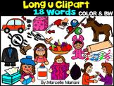 LONG VOWEL U CLIPART (_U_E, UE, UI)- LONG U VOWEL WORDS CLIPART