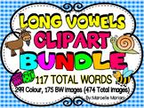 LONG VOWELS CLIPART BUNDLE- 118 Words, 479 images