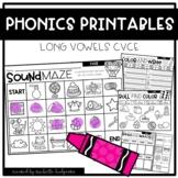 LONG VOWELS CVCE Worksheets Printables NO PREP Interactive
