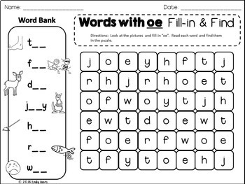 LONG VOWELS Word Search: Fill-in-and-Find Phonics Puzzles (Word Work)