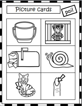 LONG VOWELS - MATCH PICTURES TO WORDS