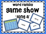 LONG Vowel 'a' Word Families GAME SHOW for PowerPoint
