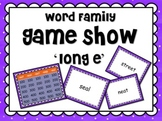 LONG Vowel 'e' Word Families GAME SHOW for PowerPoint