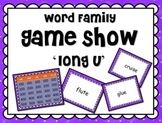 LONG Vowel 'u' Word Families GAME SHOW for PowerPoint