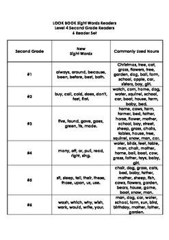 LOOK BOOK Sight Words Readers Level 4 Second Grade Set