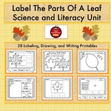 LABEL THE PARTS OF A LEAF-SCIENCE & LITERACY UNIT