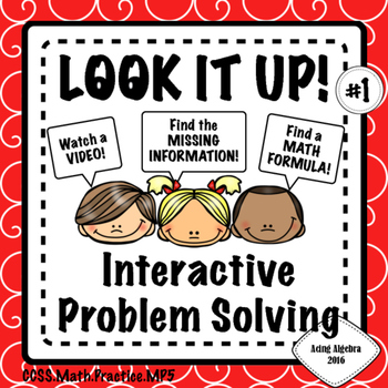 LOOK IT UP!! INTERACTIVE PROBLEM SOLVING  #1