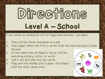 LOOK - Level A School
