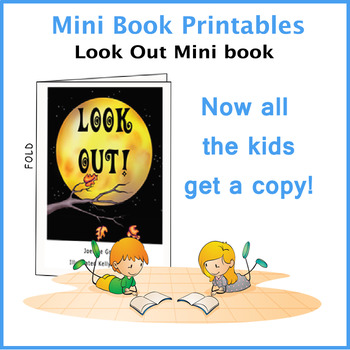 LOOK OUT MINI BOOK FOR HALLOWEEN