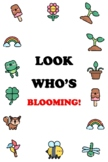 LOOK WHO'S BLOOMING!, Spring Door Poster, 2 by 3 feet, Bulletin Board Decor,