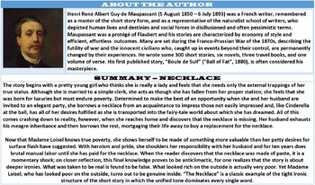 THE NECKLACE - PROSE COMPREHENSION: LESSONS & RESOURCES
