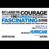 LOOKING FOR ALASKA Class Poster - Hurricane