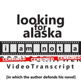 LOOKING FOR ALASKA YouTube Discussion Activity