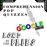 LORD OF THE FLIES 12 Pop Quizzes (Created for Digital)