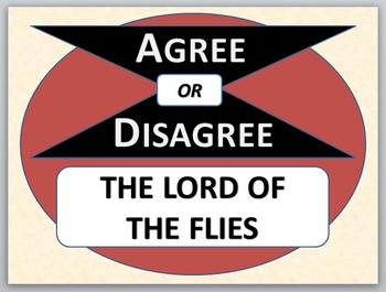 LORD OF THE FLIES - Agree or Disagree Pre-reading actvity