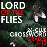 LORD OF THE FLIES CROSSWORD - 26 Clues to Test Character,