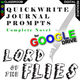 LORD OF THE FLIES Journal - Quickwrite Writing Prompts (Created for Digital)