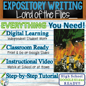 Lord of the Flies by William Golding  Text Dependent Analysis Expository Writing