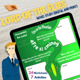 LORD OF THE FLIES Novel Study | Unit Plan | Activities | W