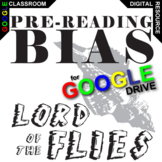 LORD OF THE FLIES PreReading Bias Activity (Created for Digital)