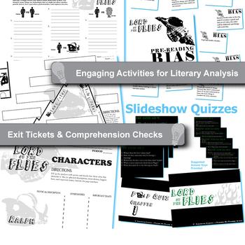 LORD OF THE FLIES Unit Plan - Novel Study Bundle (Golding) - Literature Guide
