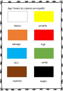 LOS COLORES - printable exercises and games