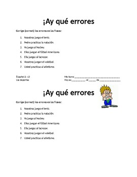 LOS DEPORTES. REALIDADES 1. 4B.