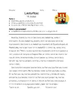 LOS LUGARES DE LA CIUDAD LECTURITAS: MI CIUDAD