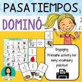 LOS PASATIEMPOS - Spanish Pastimes Printable Domino Game