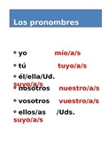 LOS PRONOMBRES POSESIVOS