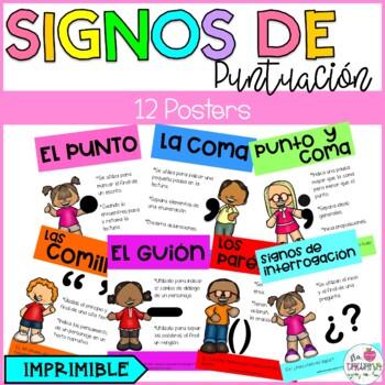 LOS SIGNOS DE PUNTUACIÓN/ PUNCTUATION MARKS POSTERS