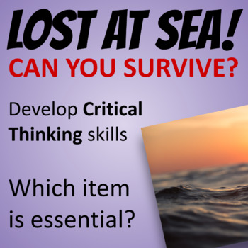 FREE! LOST AT SEA Critical Thinking Group Activity