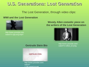 LOST GENERATION - Part 1 of the fun and engaging U.S. GENERATIONS  PPT