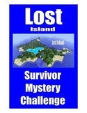 SALE . . . $8.50 . . . LOST ISLAND SURVIVOR MYSTERY CHALLENGE  . . . 10-pages
