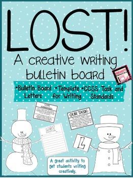 LOST SNOWMAN- A Winter Theme Creative Writing Bulletin Board
