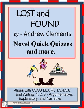 LOST AND FOUND by Clements - Quick Quizzes and more