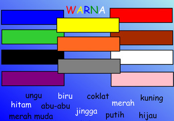 LOTE indonesian SMARTBOARD warna colours COLORS 5 pages