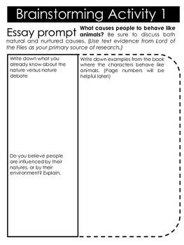 LOTF Essay Packet