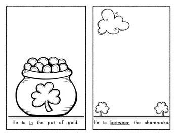 LOUIE THE LEPRECHAUN: Interactive Reader - Position Words! St. Patrick's Day!